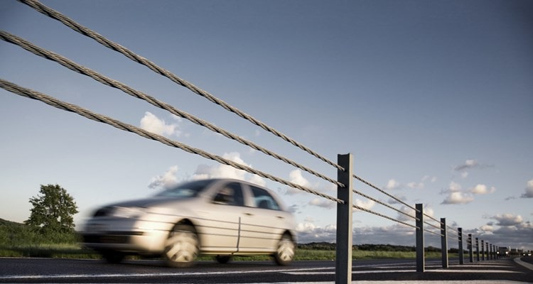 Road barrier ropes